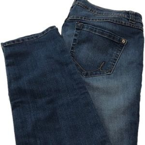 Inc Denim Blue Jeans Sz 14 Skinning Leg Curvy Fit